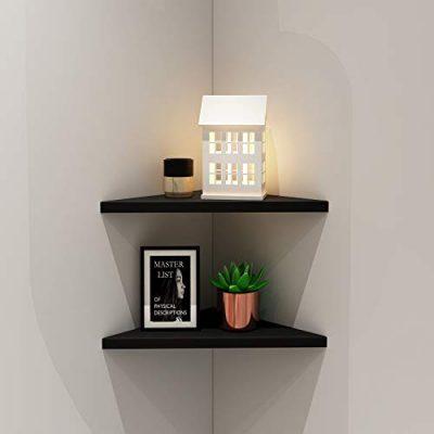 Evron Corner Mounting Shelf Easy To Install Wall Corner Shelf Storagevat Com In 2020 Wall Shelves Design Corner Wall Shelves Diy Corner Shelf