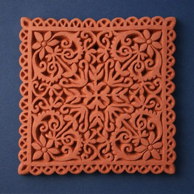 Lace Terracotta Tile By Black Dog Of Wells Studio Tile