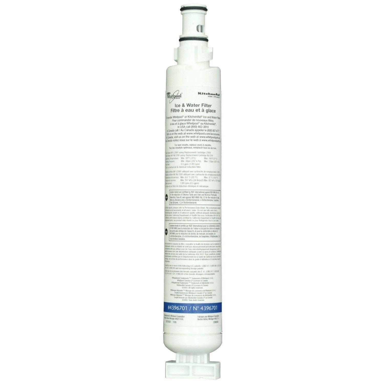 Whirlpool 4396701 Quarter Turn Top Mount Refrigerator Water Filter