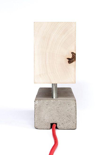 Modern Contemporary Design   Concrete lamp, Wooden light, Lamp