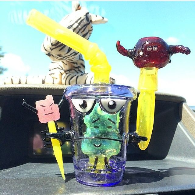 Instafire: Aqua Teen Hunger Force Worked Cup Dab Rig | Weedist