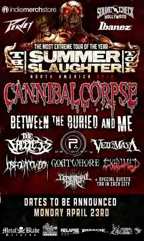 Summer Slaughter Tours Slaughter Tour Posters