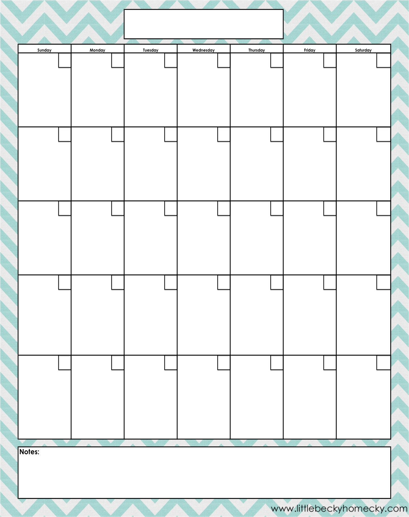 Free Printable Calendar – Printable Monthly Calendars