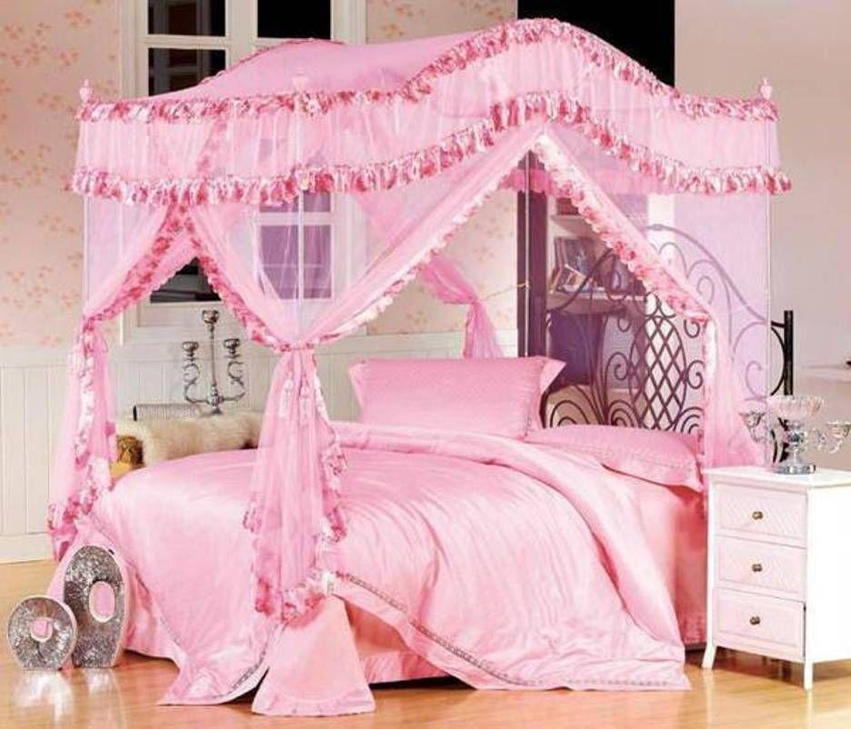 Ansprechende Twin Bett Baldachin Mit Twin Bett Vordacher Schlafzimmer Prinzessin Baldachin Betten Twin Girls Bed Canopy Princess Canopy Bed Canopy Bedroom Sets