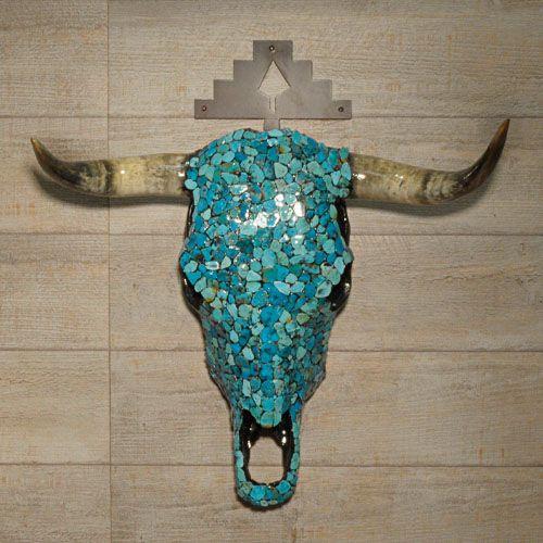 troph e cr ne de vache pav de turquoises harpo paris d co cuisine pinterest turquoise. Black Bedroom Furniture Sets. Home Design Ideas