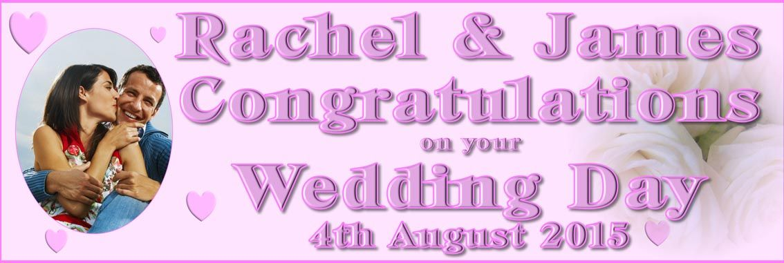Pink Personalised Wedding Banner Http Www Posters Banners