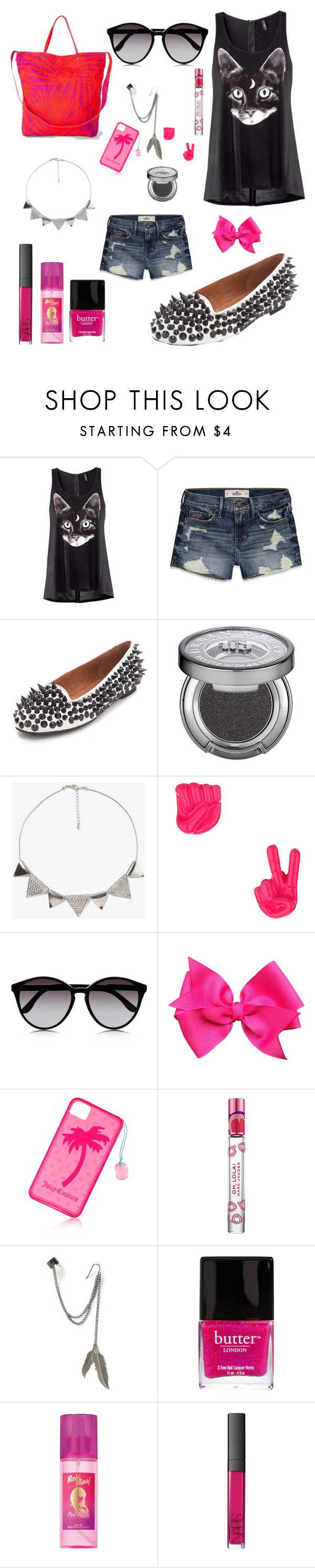 """""""Deadly Nightshade """" by ugmscortney ❤ liked on Polyvore featuring H&M, Hollister Co., Jeffrey Campbell, Urban Decay, Forever 21, Topshop, STELLA McCARTNEY, Juicy Couture, Marc Jacobs and claire's"""