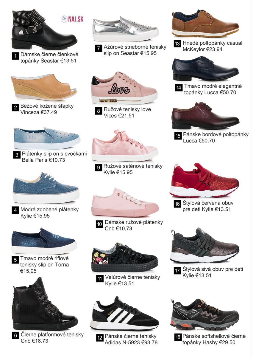 5c59773c7c49d Tmavo modré elegantné topánky Lucca, Hnedé poltopánky casual McKeylor,  Pánske čierne tenisky Adidas N