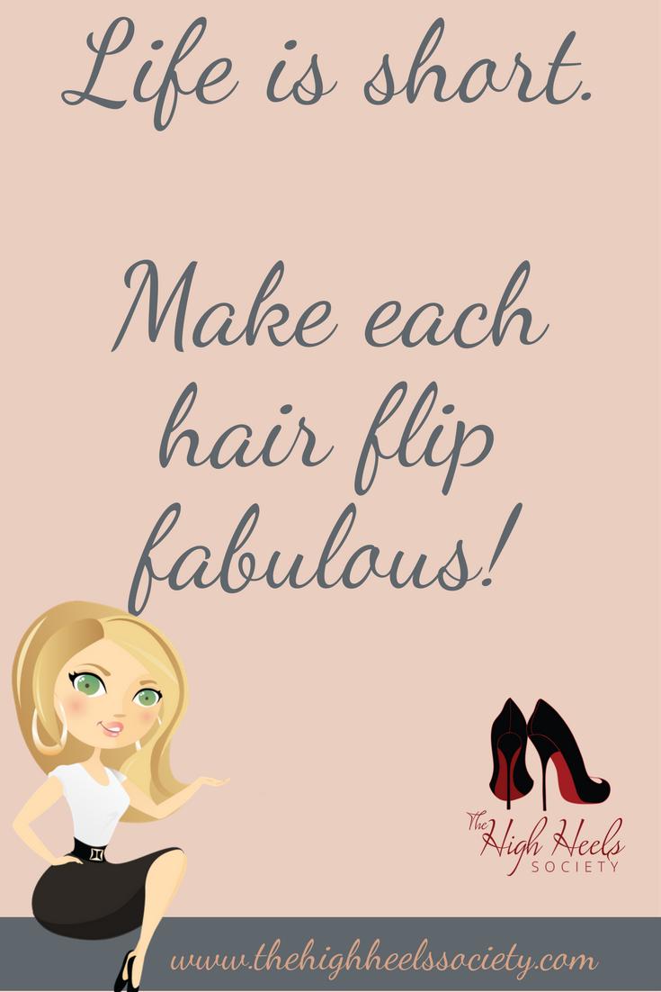 Hair Flip Fabulous Quote Print Watercolour Wall Art
