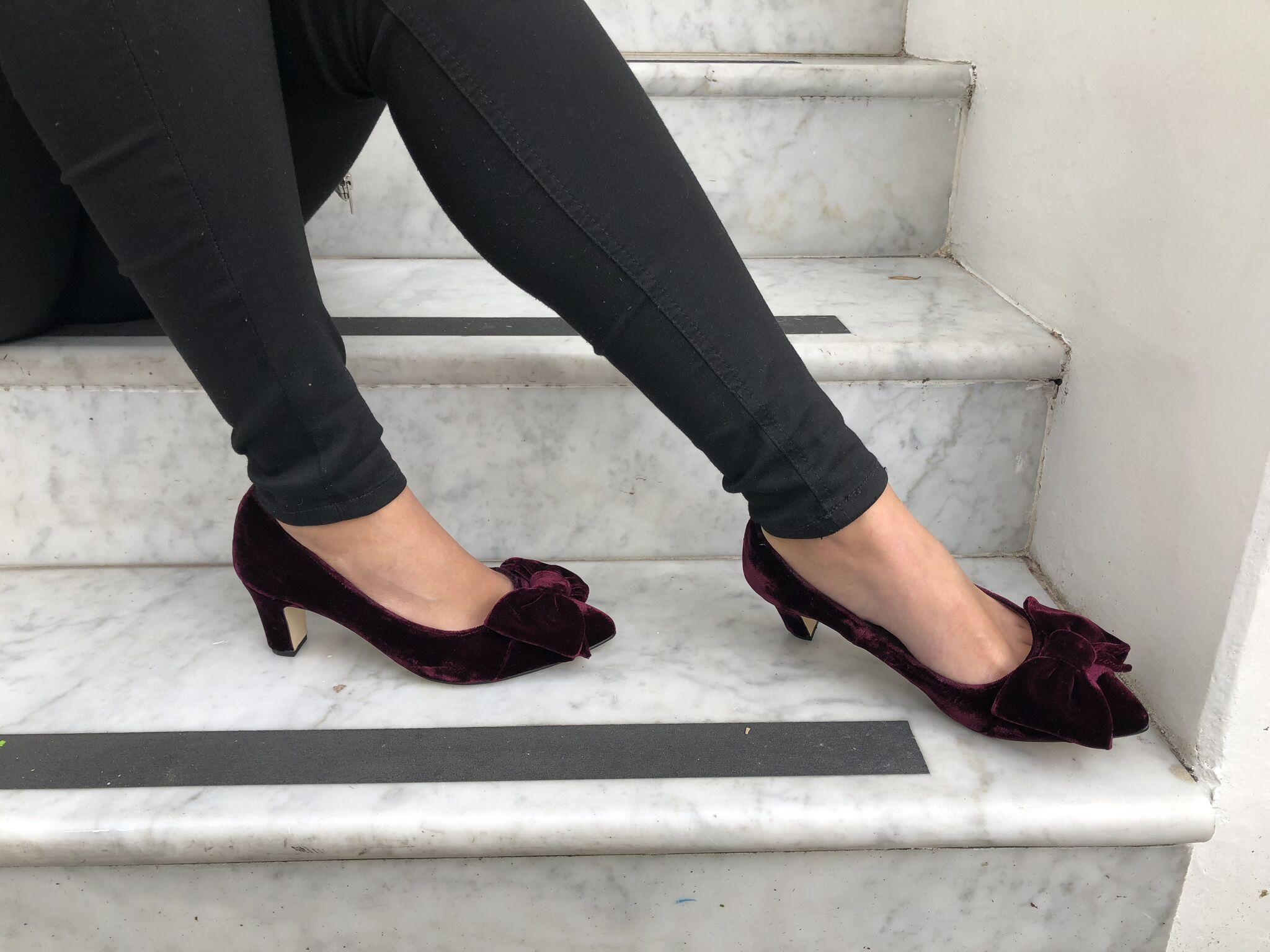 6a5cf4b5784c CAMILLA WIDE FIT COURT SHOES – BURGUNDY VELVET  Velvet   ShoesThatDontSqueeze  WideFit  Burgundy  CourtShoes