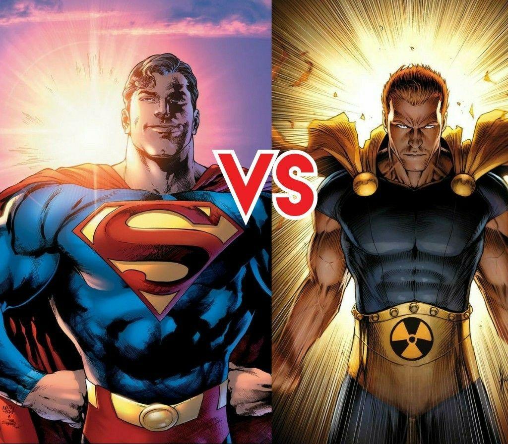Hyperion Vs Superman Comic Art Marvel Vs Dc Cover Art