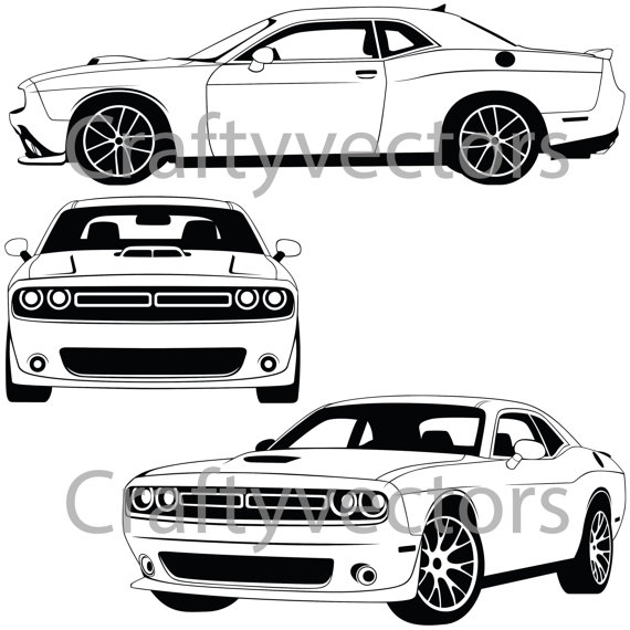 Dodge Challenger 2015 Vector File | Etsy