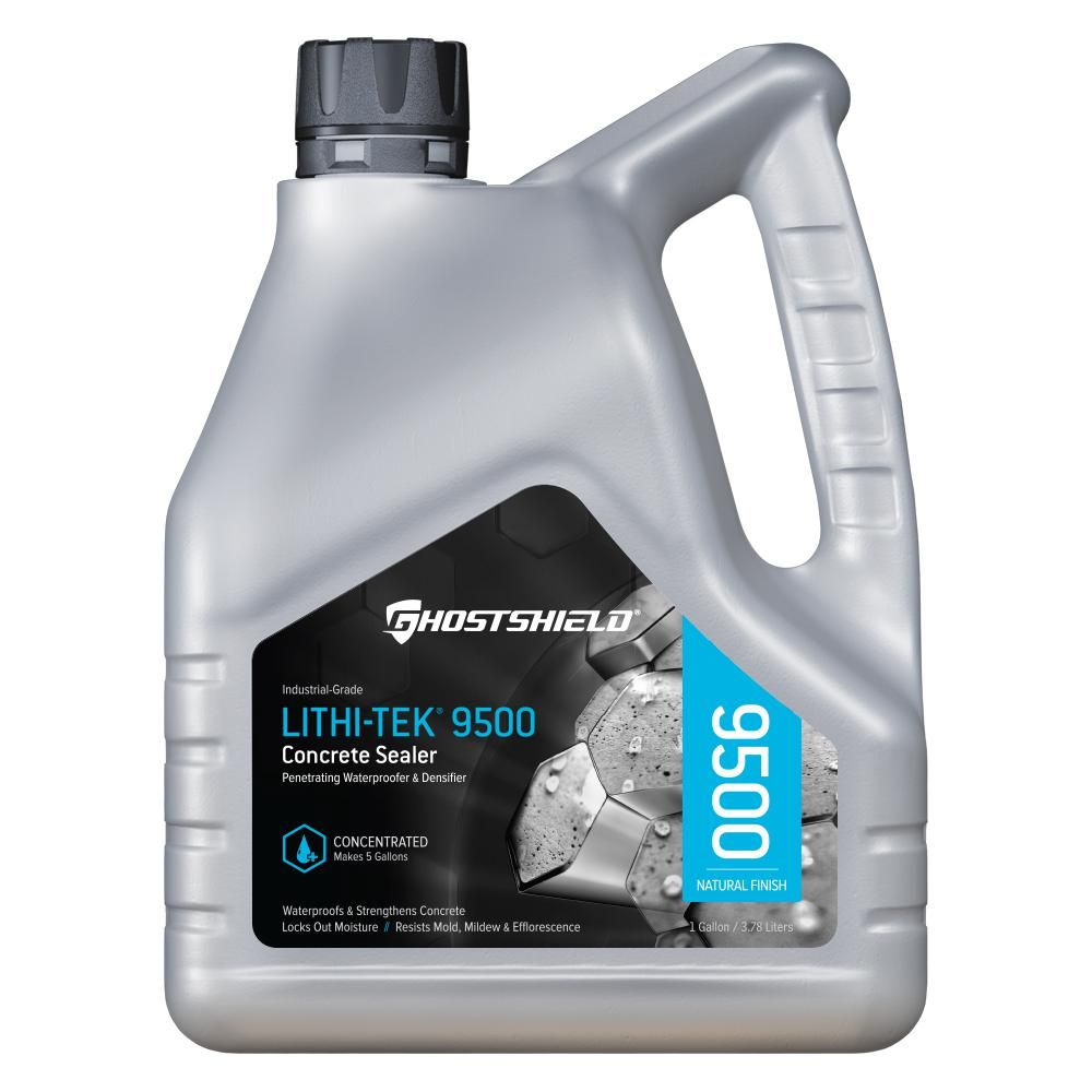 Ghostshield 1 Gal Invisible Penetrating Concrete Sealer Waterproofer Plus Densifier 9500 The Home Depot Concrete Sealer Concrete Sealers Concrete