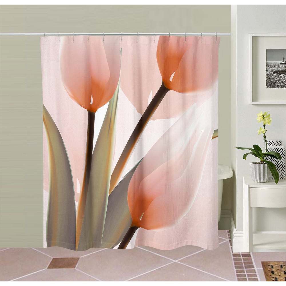 Tulip Shower Curtain Tulip Shower Curtain Unique Shower Curtain