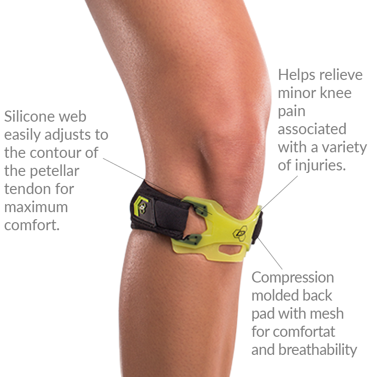 DonJoy Performance Webtech Knee Strap with silicone band supports ...