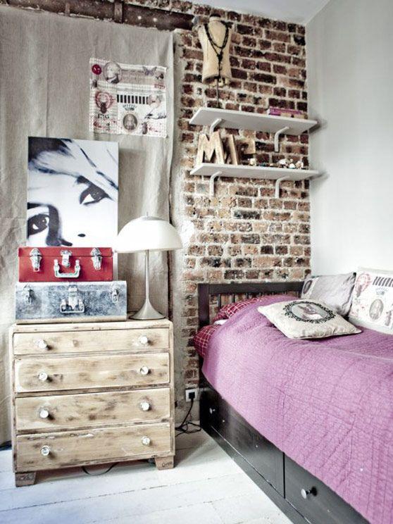 Im genes sobre decoraci n moderna de estilo dirty chic - Habitaciones vintage juveniles ...