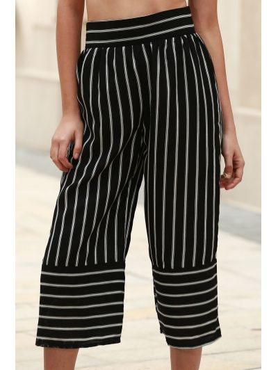 SHARE & Get it FREE | Stripe High Waist Wide Leg Capri PantsFor Fashion Lovers only:80,000+ Items • New Arrivals Daily Join Zaful: Get YOUR $50 NOW!