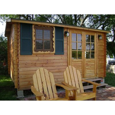 Aspen 95 Ft W X 125 Ft D Wooden Storage Shed In 2019 Compact