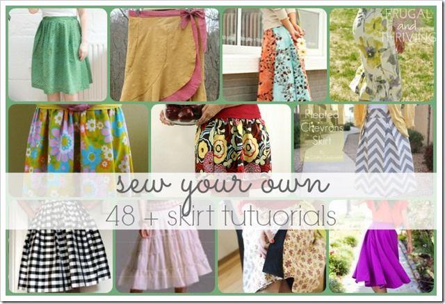 48 + Free Skirt Tutorials to Make | Nähen