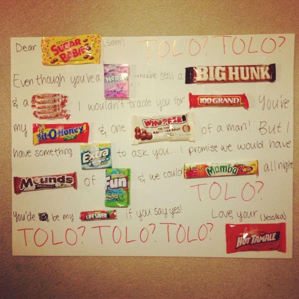 Cute ideas to ask a boy to sadie hawkins - Cute Tolo Idea Great Idea Maybe Ill Do It Sometime