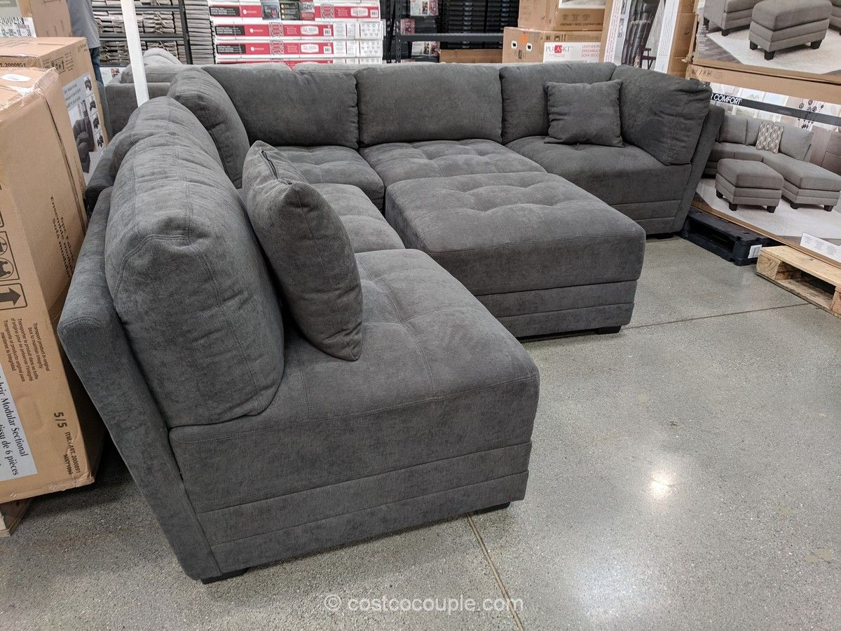 6 Piece Fabric Modular Sectional Costco In 2020 Modular