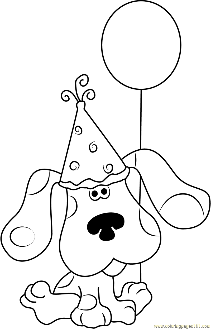 Happy Birthday Blue Clues Coloring Page In 2020 Birthday Coloring Pages Nick Jr Coloring Pages Happy Birthday Blue