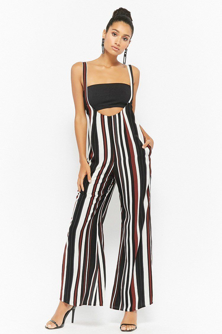 cd67ded3f502 Product Name Striped Suspender Jumpsuit