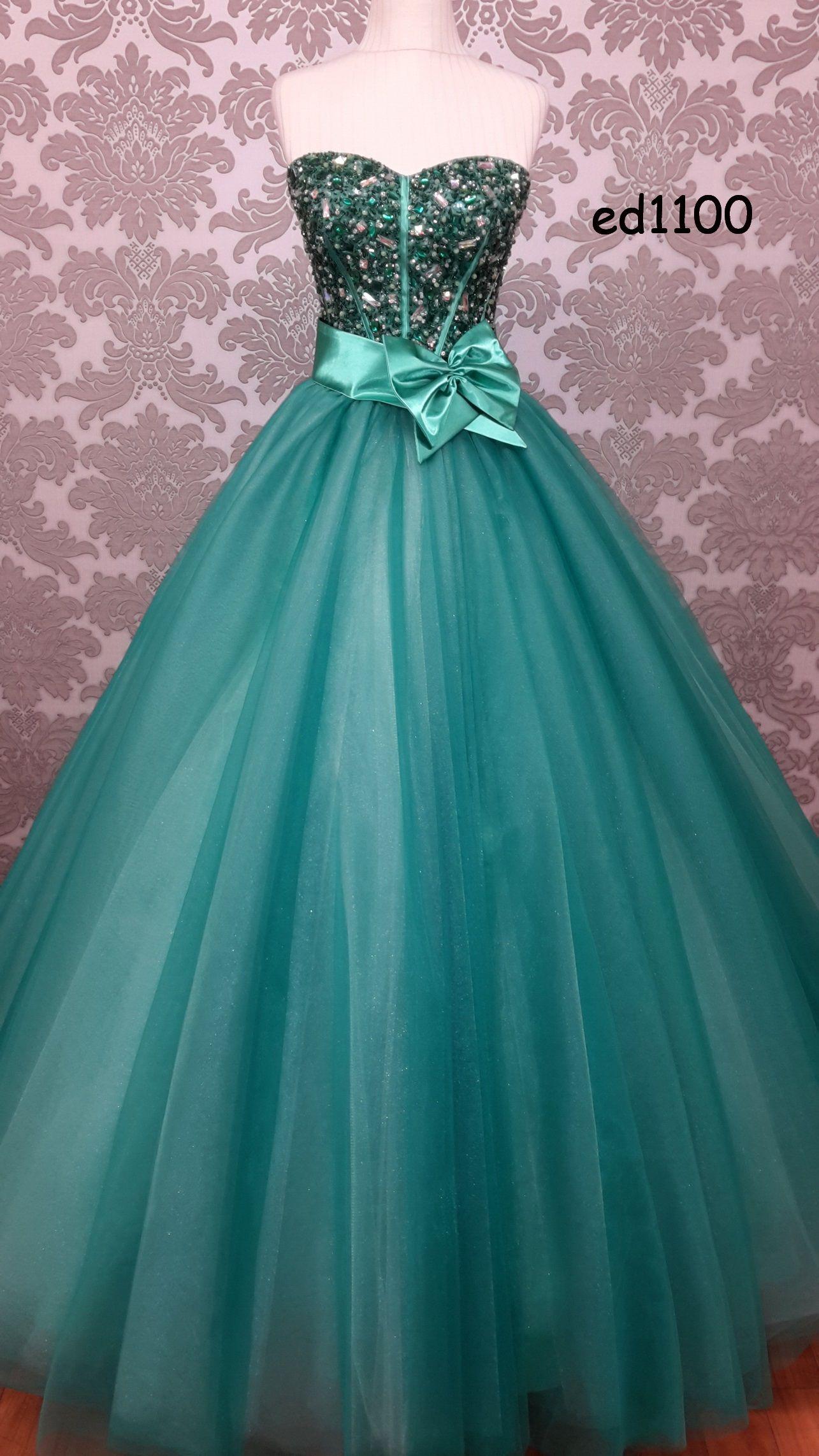 ED1100- Green Engagement Dress | Wedding Dresses, Evening Dresses ...