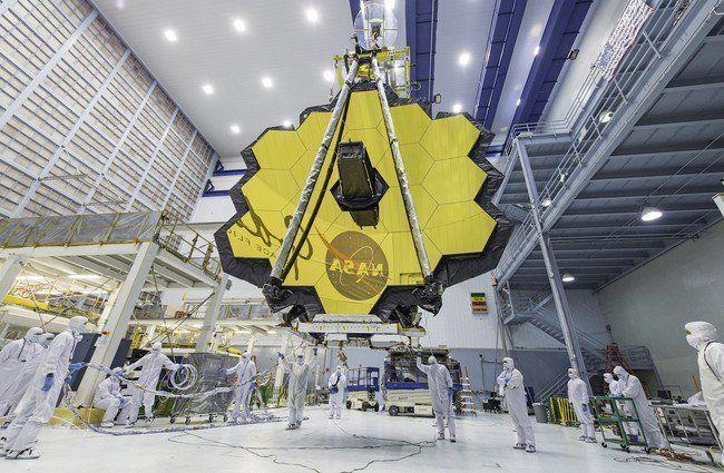 Por primera vez podemos ver en todo su esplendor el enorme telescopio espacial James Webb el sucesor del Hubble http://bit.ly/2oyh992 #CPMX8 Quiriarte.com