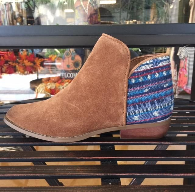 Sbicca Cira Suede Ankle Boot - Tan