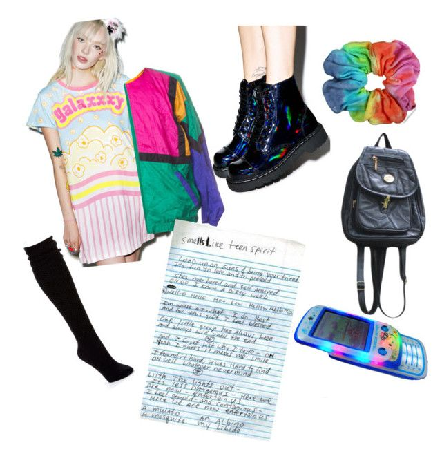 """Rad"" by vintagethread-s on Polyvore featuring Galaxxxy, T.U.K. and Hue"