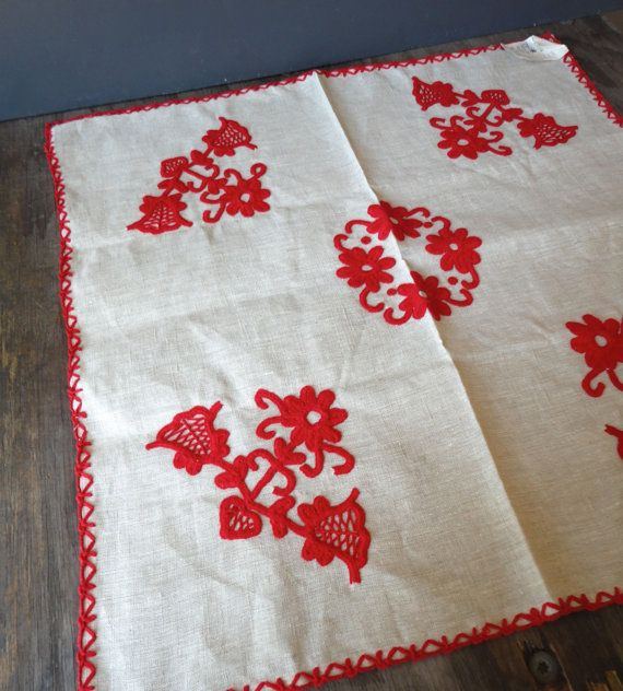 Scandinavian Tablecloth Mid Century Woven By Justsmashingdarling Scandinavian Tablecloths Christmas Table Cloth Table Cloth