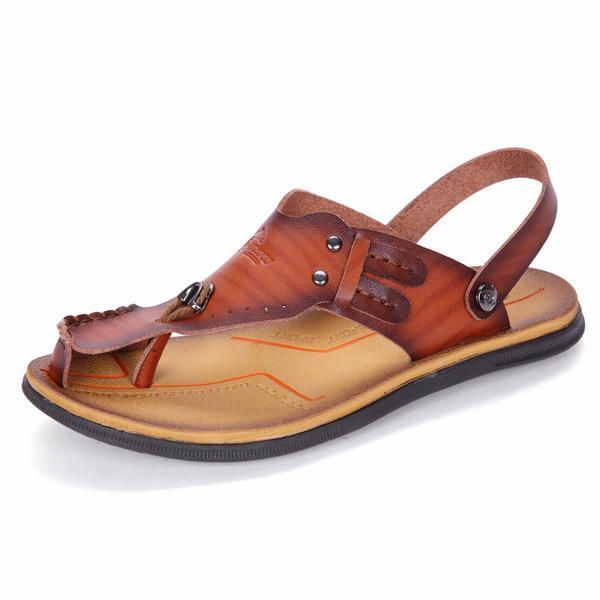 183bc2bf313 Men Casual Sandals Cool Slippers Beach Shoes. Playa De HombresSandalias ...