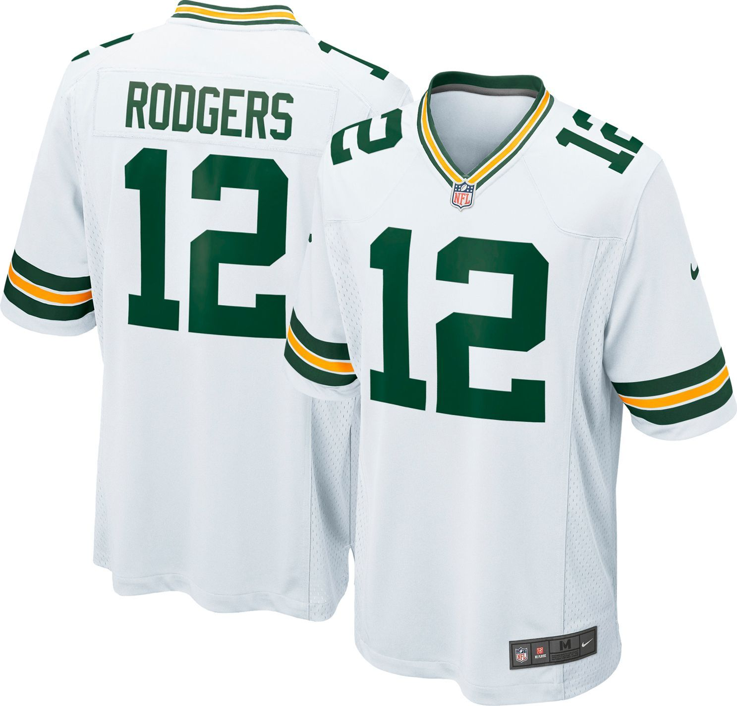 sports shoes 032d9 25aa1 Nike Men's Away Game Jersey Green Bay Packers Aaron Rodgers ...
