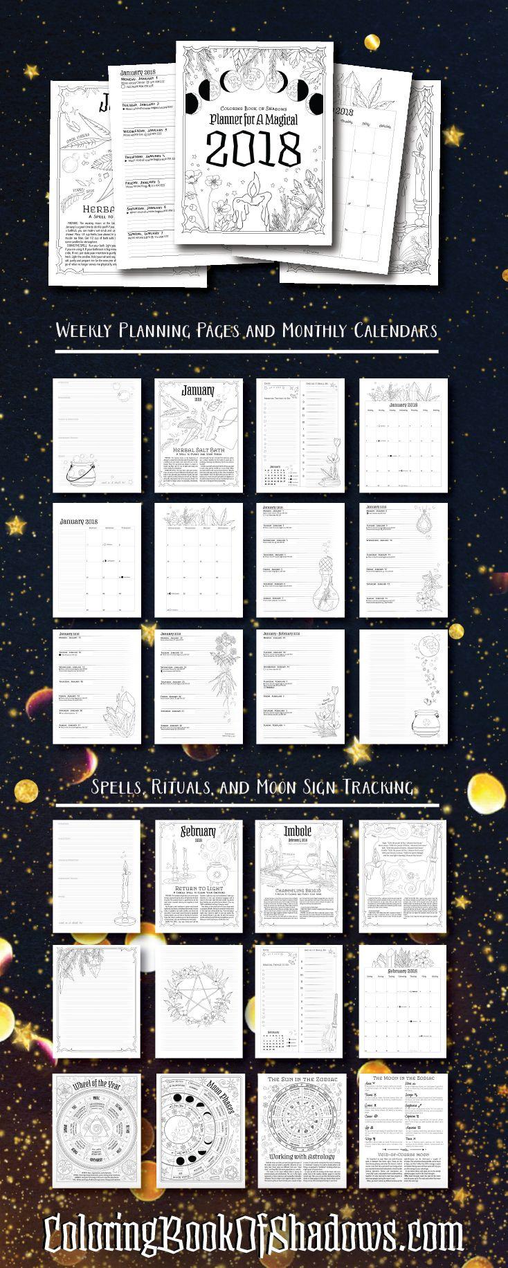 Planner For A Magical 2018 Printable PDF RAndoM Stuffs