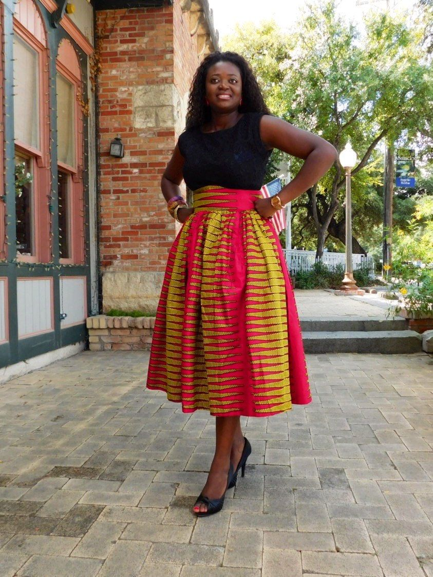 f1ca48b5017b NEW Pink Yellow African Ankara Midi skirts; African Clothing; African  fashion; African Print; African Skirt; High Waist Skirt; African Cloth -  pinned by ...