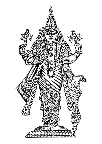 Coloring Page Vishnu Coloring Pages Needlepoint Patterns