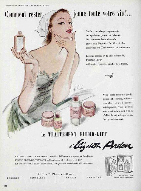 50s Ad Elizabeth Arden Skincare Vintage Makeup Ads Vintage Cosmetics Makeup Ads