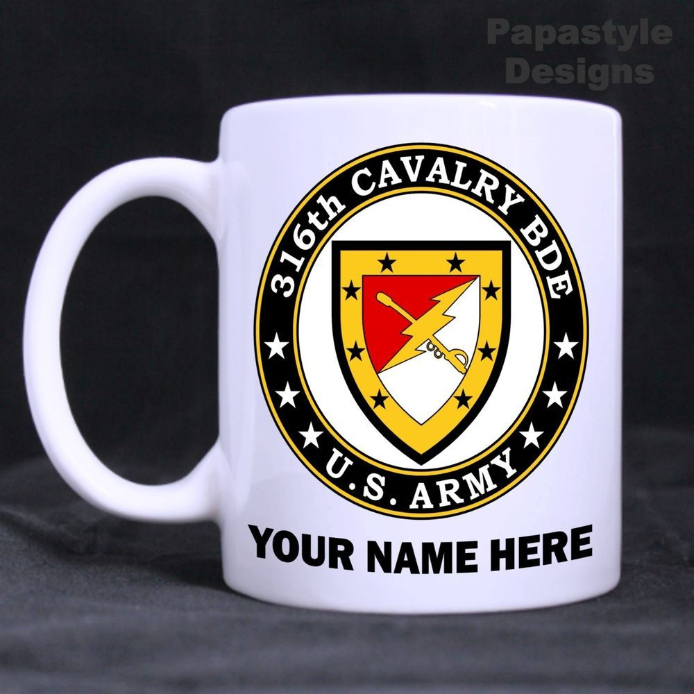 US Army 316th Cavalry Brigade Personalized 11oz Coffee Mugs Made in the USA…