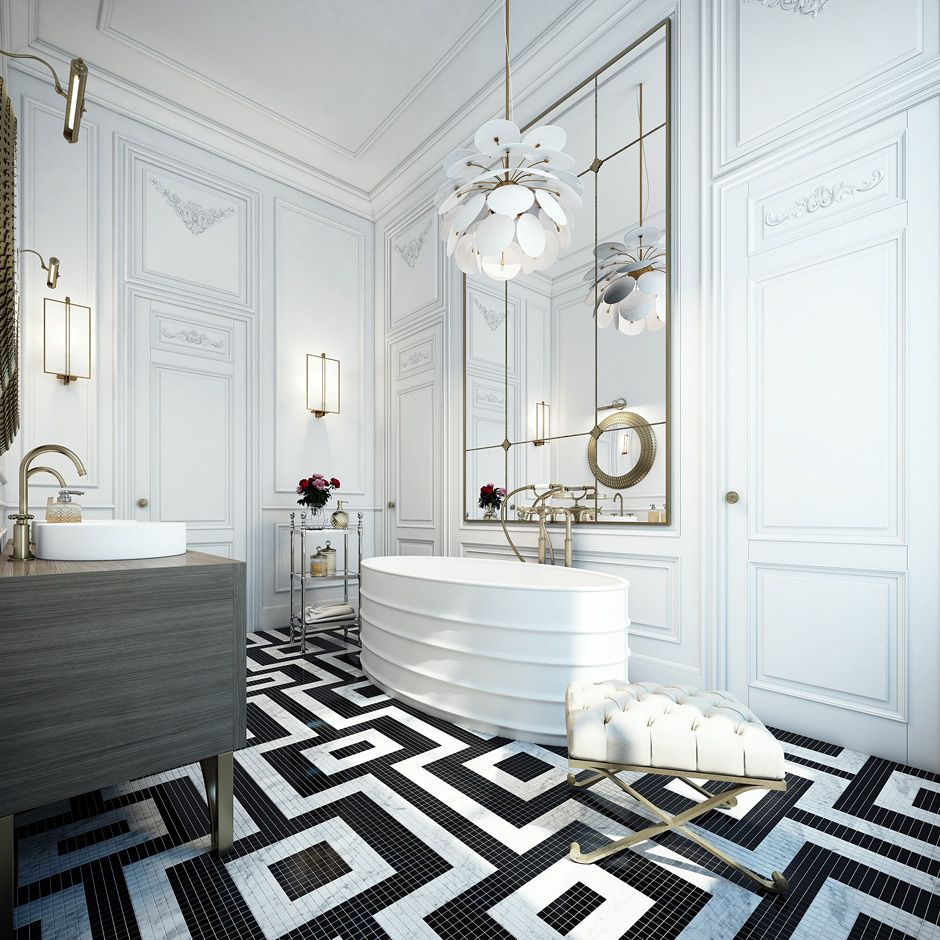 Un Appartement Design A Saint Germain Paris Salle De Bain Noir