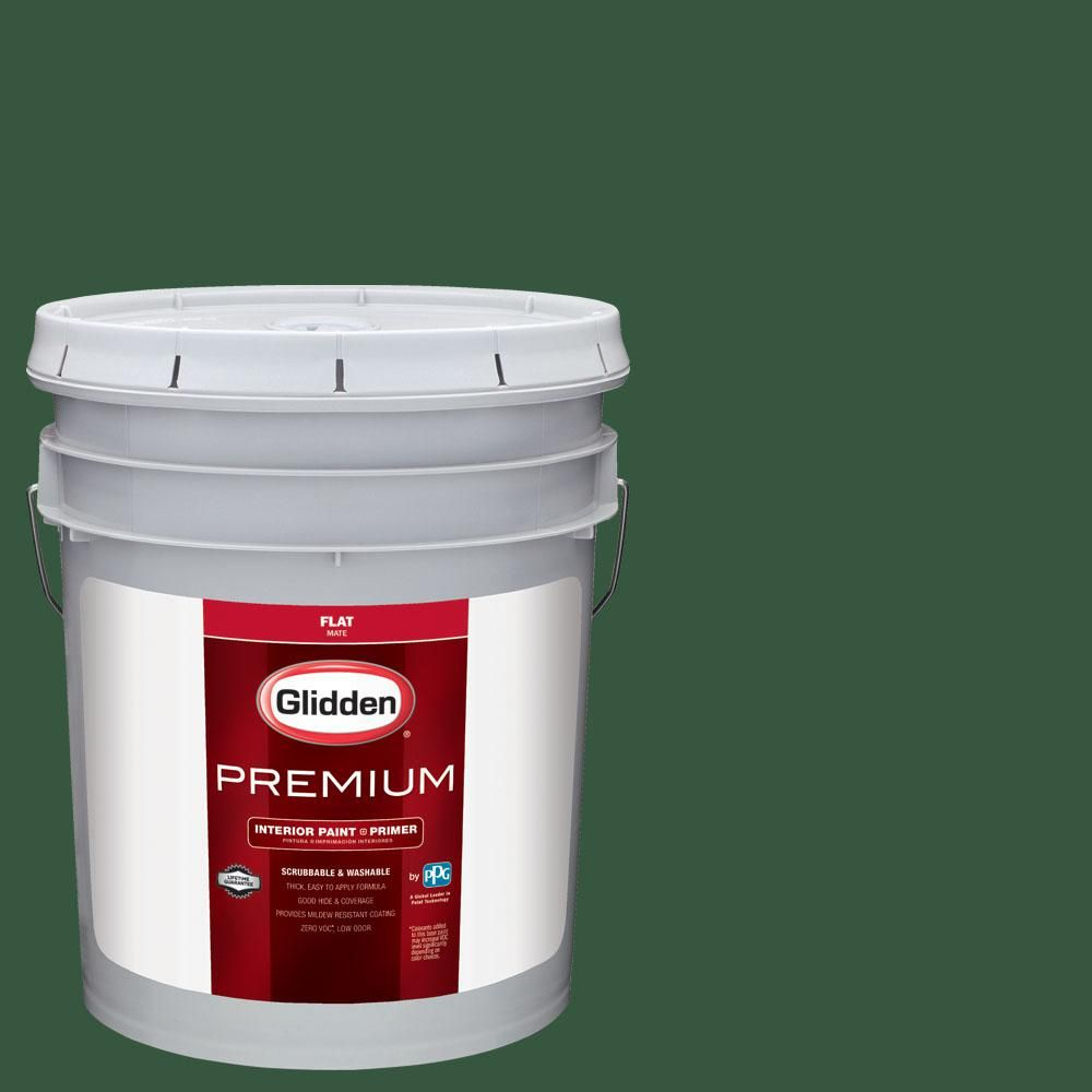 Glidden Premium 5 gal. #nba-009C Milwaukee Bucks Green Flat Interior ...