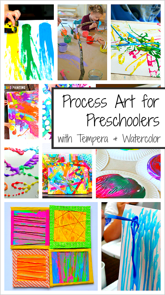 20 Process Art Activities For Preschoolers Using Paint Buggy And