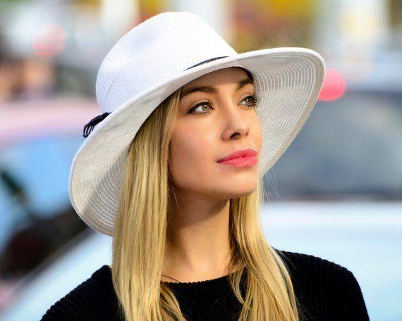 8a75f46111fa8 Wide Brim Fedora Hat Women s Sun Hat Men s Straw Hat Black Straw Hat Spring  Fashion Fall Fashion Fal