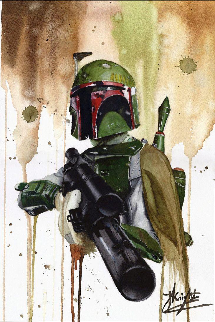 Boba Fett star wars watercolour by JKNIGHTART on deviantART | Boba ...