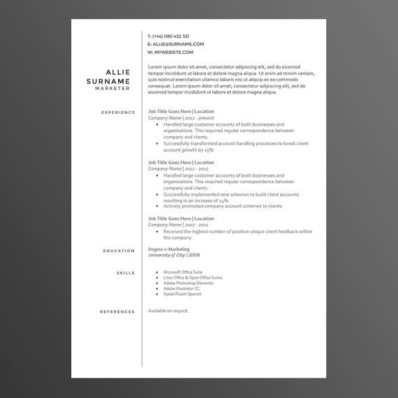 Clean And Modern Resume/CV Template