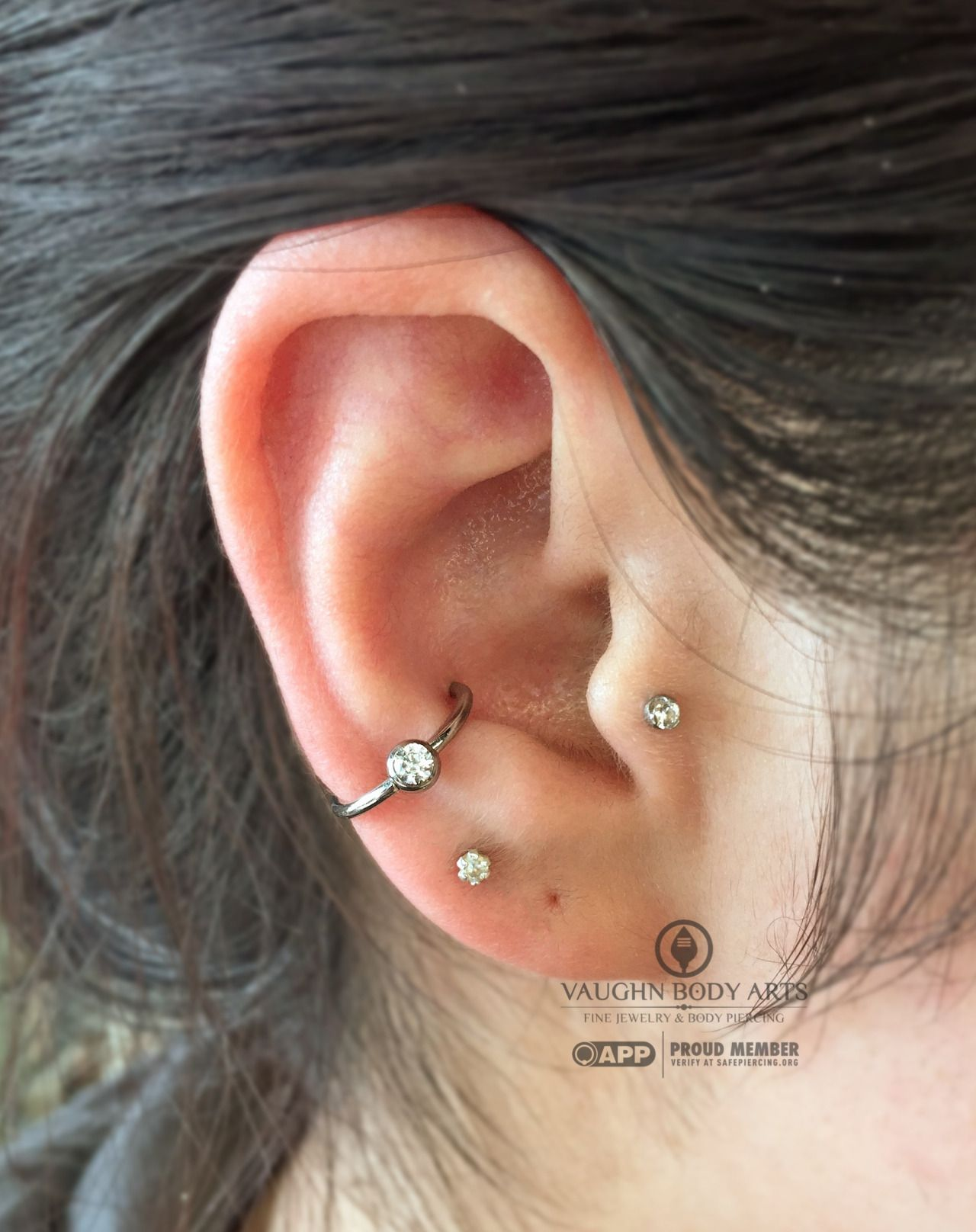 Ariana Stopped In For A Conch And Tragus Piercing To Match Her Other Conch  And Tragus
