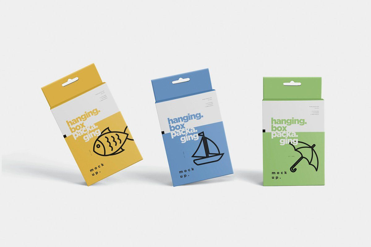 Download Hanging Box Packaging Mockups Packaging Mockup Box Packaging Packaging