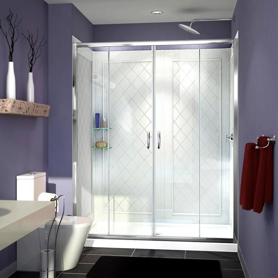 Dreamline Visions Chrome 3 Piece Alcove Shower Kit Common 60 In