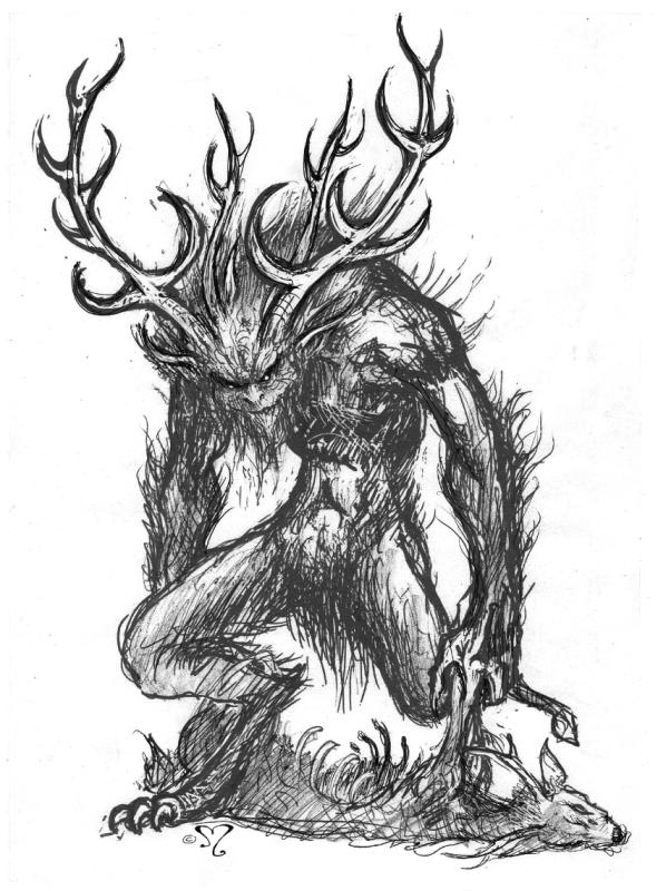 Wendigo par Pascal Moguérou - Illustration | Le wendigo, Chimère  mythologie, Créatures imaginaires