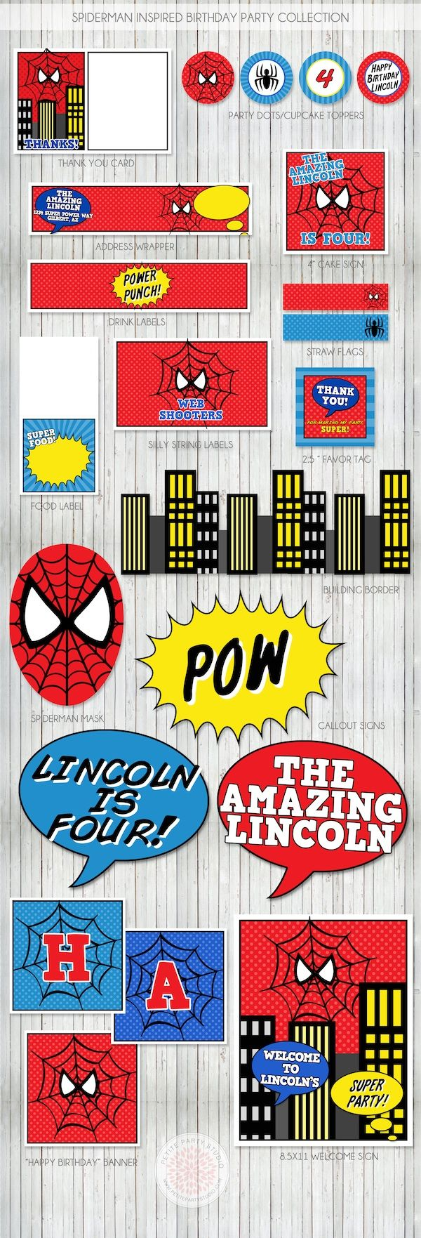 Spiderman Birthday Party | Party printables, Spiderman and Birthdays
